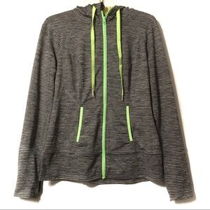lukka Tops - Lukka Performance Hoodie Gray Green Size Medium